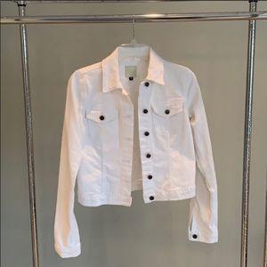 Gently used Joe's Jeans white cropped denim jacket